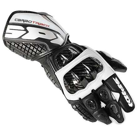 Gloves Carbo Track black white Spidi