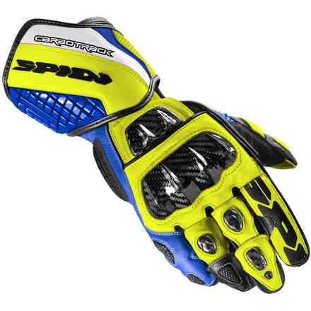 Gloves Carbo Track Evo Blue Yellow Spidi