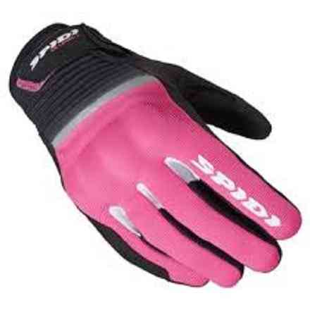 Gloves Flash Ce Lady Black Fuchsia Spidi