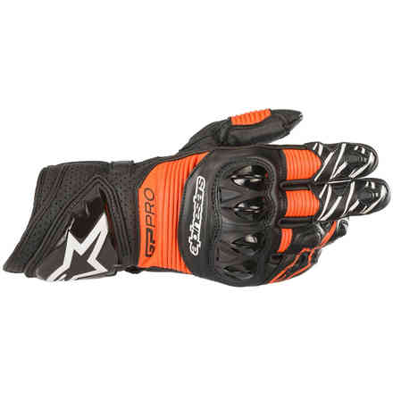 Gloves Gp Pro R3 Black Red Fluo Alpinestars
