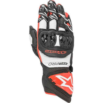 Gloves Gp Pro R3 Black White Red Alpinestars