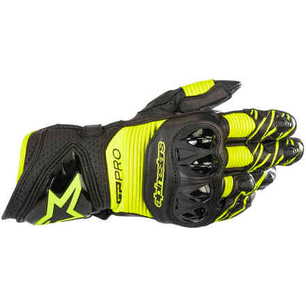 Gloves Gp Pro R3 Black Yellow Fluo Alpinestars