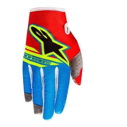 Gloves Radar Flight 2018 rouge aqua jaune fluo Alpinestars
