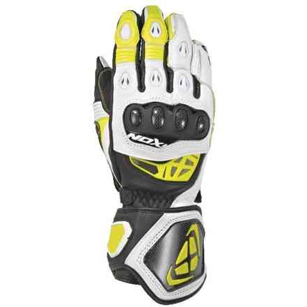 Gloves Rs Genius 2 Black White Yellow Ixon