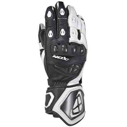 Gloves Rs Genius 2 Black White Ixon