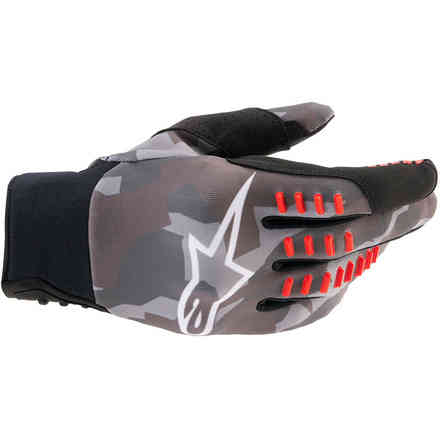 Gloves Smx-E Gry Camouflage Red Fluo Alpinestars