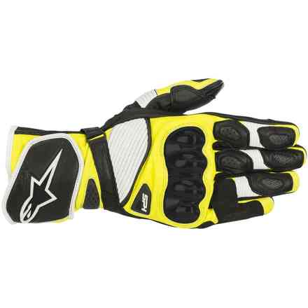 Gloves Sp-1 V2 Black White Yellow Fluo Alpinestars