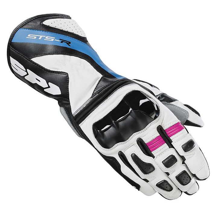 Gloves Sts-R Lady white-blue Spidi