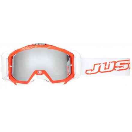 Goggle Cross Iris Neon Red Mirror Lens Just1
