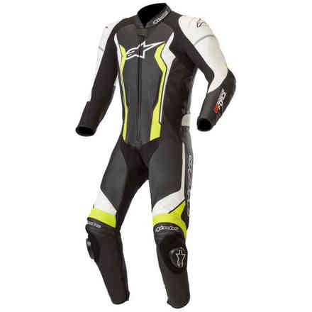 Gp Force Leather suit black white yellow Alpinestars