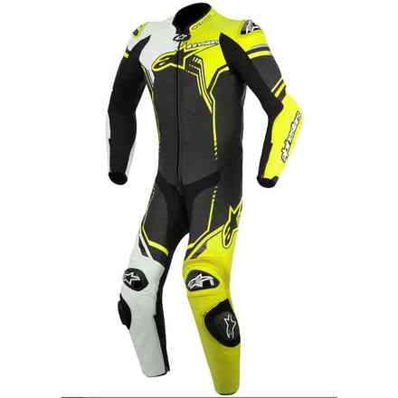 Gp Plus black white fluo yellow Suit  Alpinestars