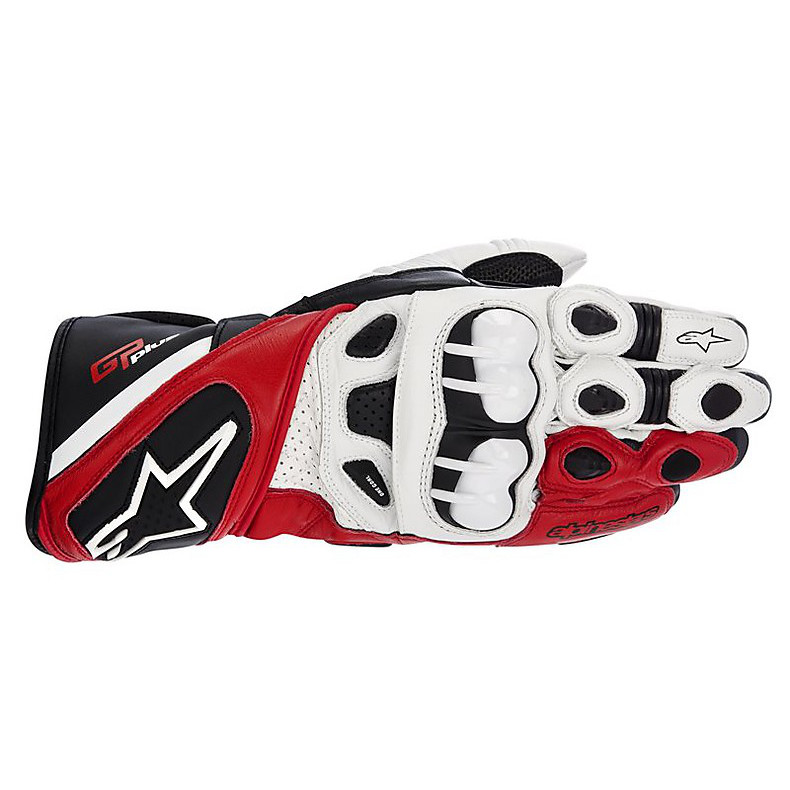 Gp Plus Gloves white-black-red Alpinestars