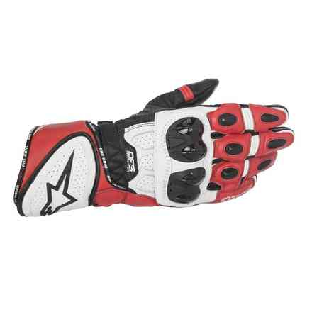 Gp Plus R  black white red Gloves Alpinestars