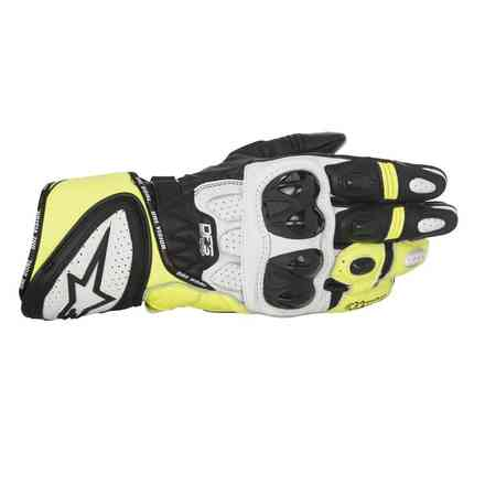 Gp Plus R  black white yellow Gloves Alpinestars