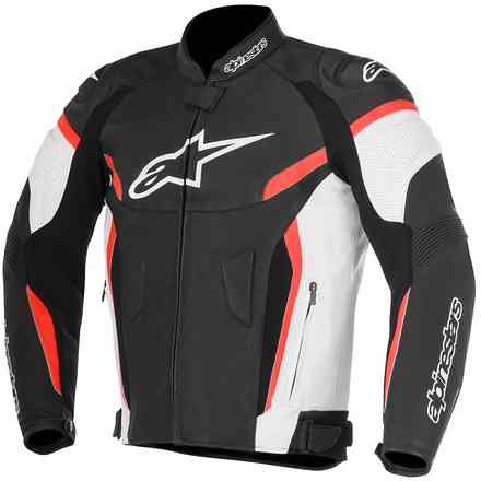 Gp Plus R V2 Airflow Blk Wht Red Leather Jacket Alpinestars