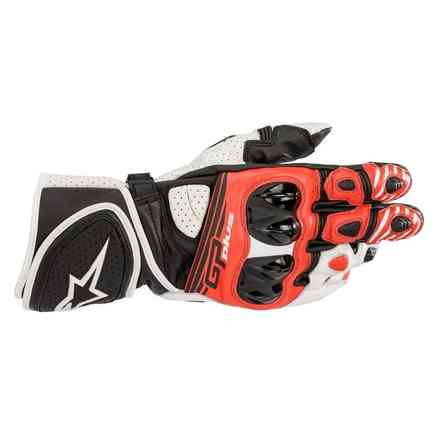 Gp Plus R V2 gloves black white red Alpinestars