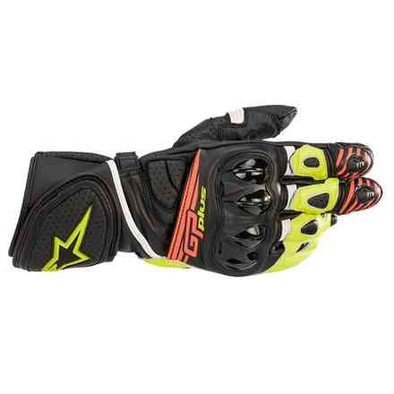 Gp Plus R V2 gloves black yellow fluo red fluo Alpinestars