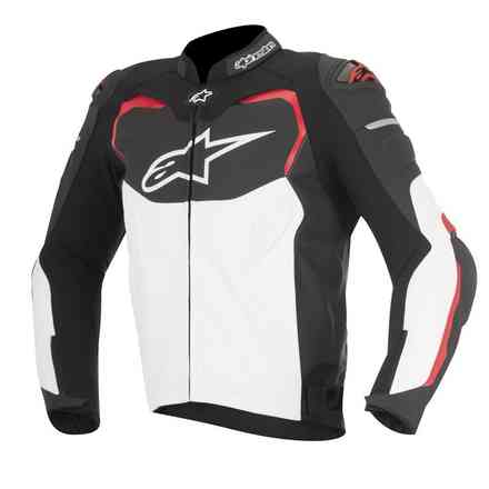 Gp Pro jacket en cuir black white red Alpinestars