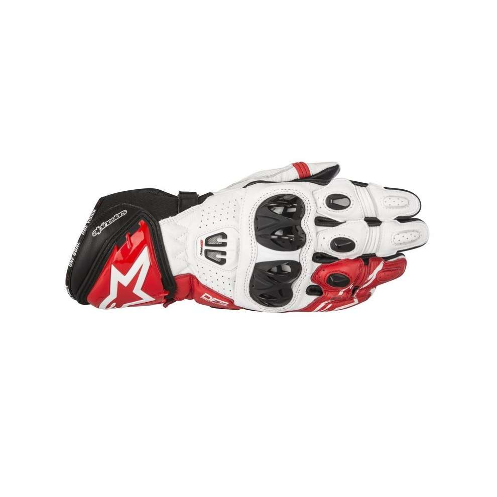 Gp Pro R2  black white red Gloves Alpinestars