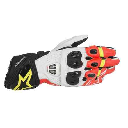 Gp Pro R2  black white red yellow Gloves Alpinestars