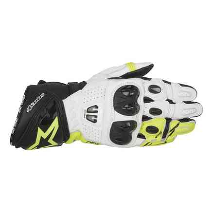 Gp Pro R2  black white  yellow Gloves Alpinestars