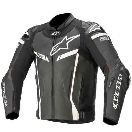 Gp Pro V2 Leather Tech air-Air Compjacket Black White Alpinestars
