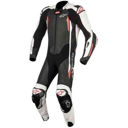 Gp Tech V2 Tech Air  Black White Red Leather Suit Alpinestars