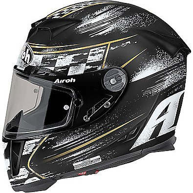 Gp500 Check Helmet black matt Airoh
