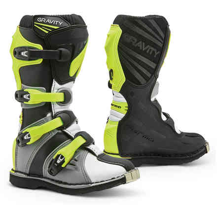 Gravity boots grey white yellow fluo Forma