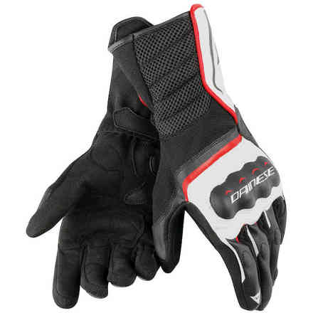 Guanti Air Fast Unisex nero bianco rosso Dainese