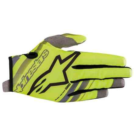 Guanti Alpinestars  Youth Radar Nero - Giallo Fluo Alpinestars