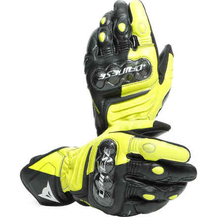 Guanti Carbon 3 Long nero giallo fluo bianco Dainese