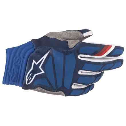 Guanti Cross Aviator Dark Blu bianco Alpinestars