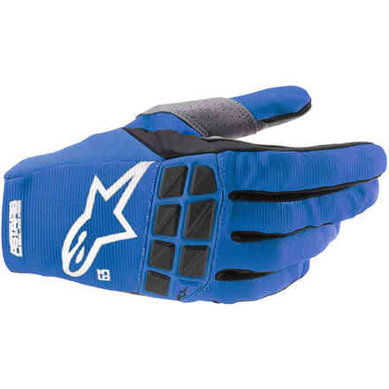Guanti Cross Racefend Blu Bianco Alpinestars