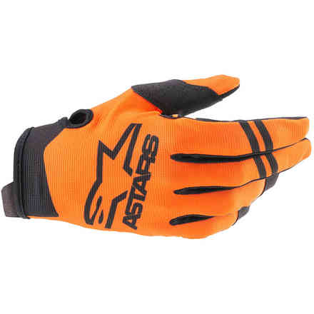Guanti Cross Radar Arancione Nero Alpinestars