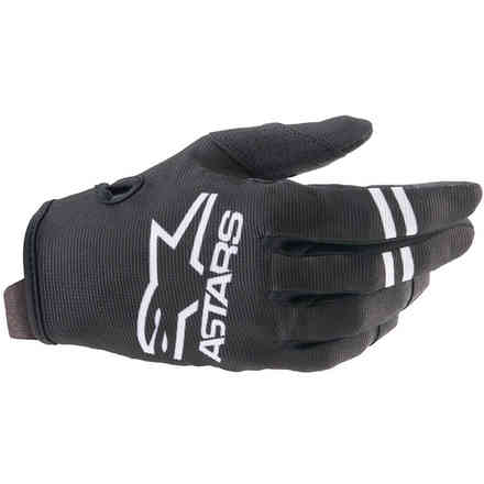Guanti  Cross Radar Bianco Nero Alpinestars