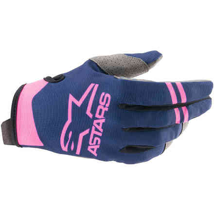 Guanti Cross Radar Blu Scuro Rosa Alpinestars