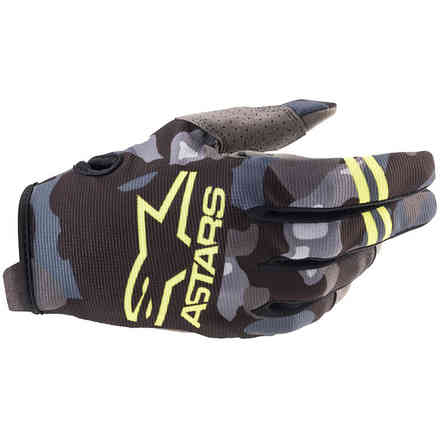 Guanti Cross Radar Gray Camo Giallo Alpinestars