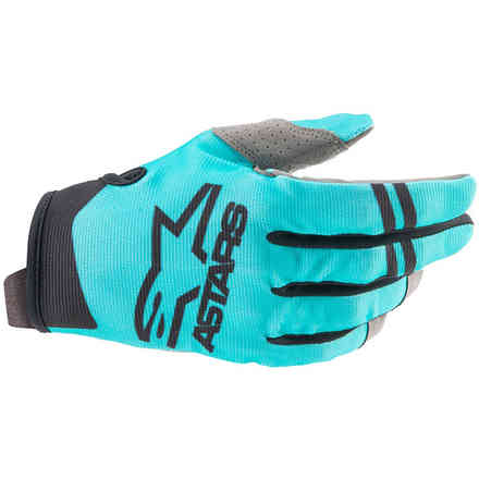 Guanti Cross Radar Grigio Blu Nero Alpinestars