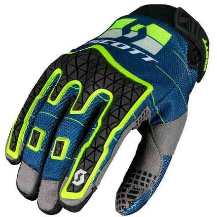 Guanti Cross Scott Enduro Blu/Giallo Scott