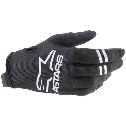 Guanti Cross Youth Radar Bianco Nero Alpinestars