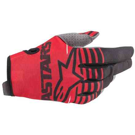 Guanti cross Youth Radar bright rosso nero Alpinestars