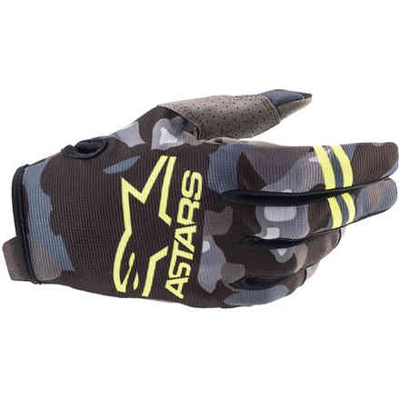 Guanti  Cross Youth Radar Grgio Camo Giallo Alpinestars