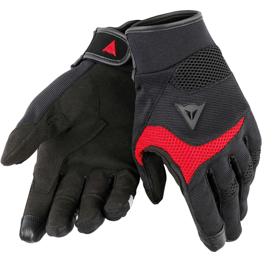 Guanti Desert Poon D1 nero rosso Dainese