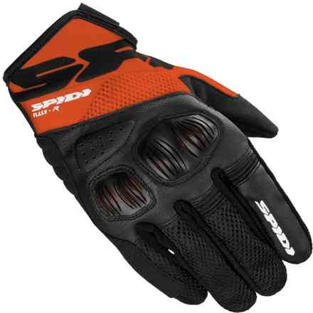 Guanti Flash-R Evo Nero/Arancio Spidi
