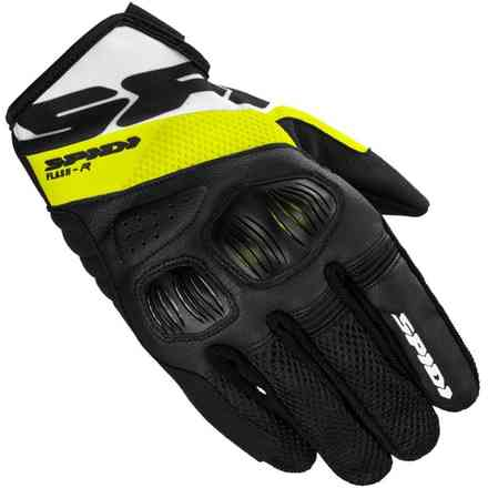 Guanti Flash-R Evo Nero Giallo Fluo Spidi