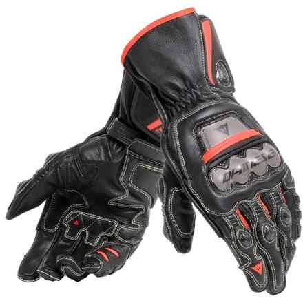 Guanti Full Metal 6  nero rosso fluo Dainese