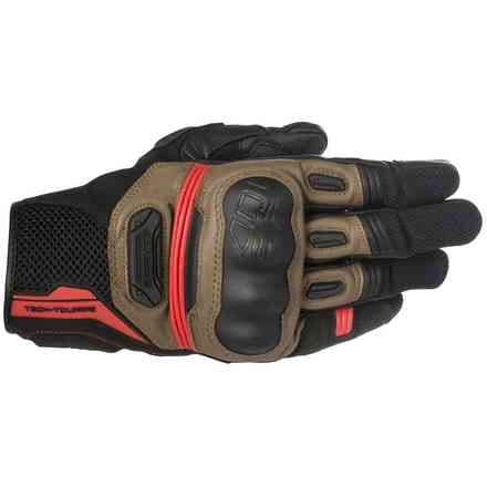 Guanti Highlands nero marrone rosso Alpinestars