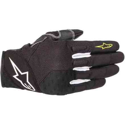 Guanti Kinetic Nero Giallo Fluo Alpinestars