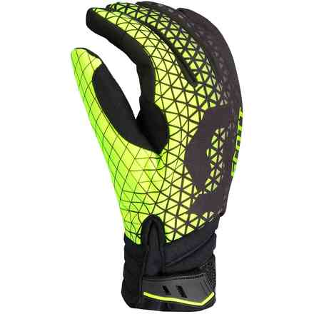 Guanti Race Dp Nero Verde Lime Scott